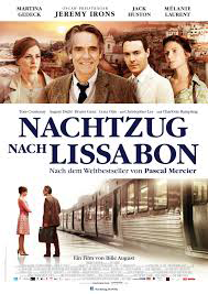 "Filmplakat ""Nachtzug nach Lissabon"""